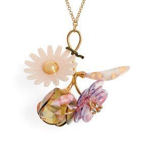Lele Sadoughi Floral Pendant Necklace